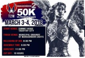 Tagaytay to Maragondon 50K Ultramarathon 2018