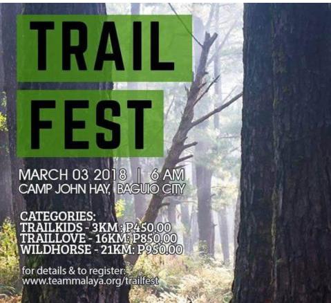 Trail Fest 2018 3/16/21K (Baguio)
