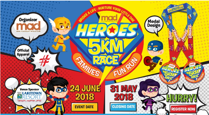 Heroes 5km Race & Families Fun Run 2018