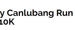 Rotary Canlubang Run 2018