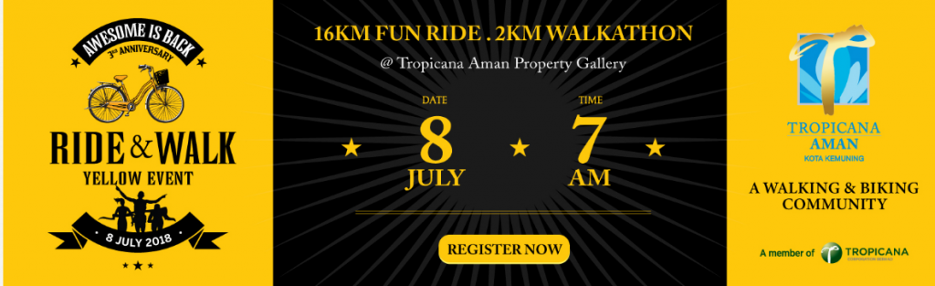 Tropicana Aman Ride & Walk Yellow Event 2018