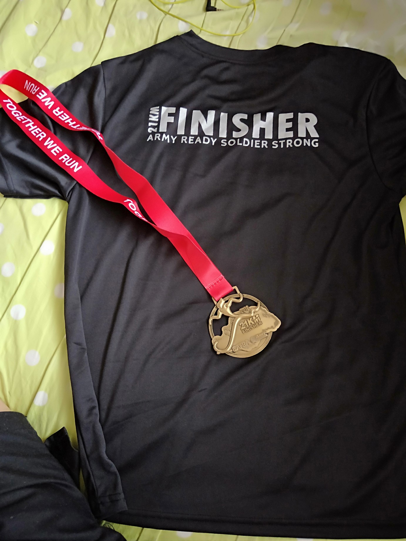 62639825 Now I'm glad to say that I had finished this half marathon stronger than  ever before.