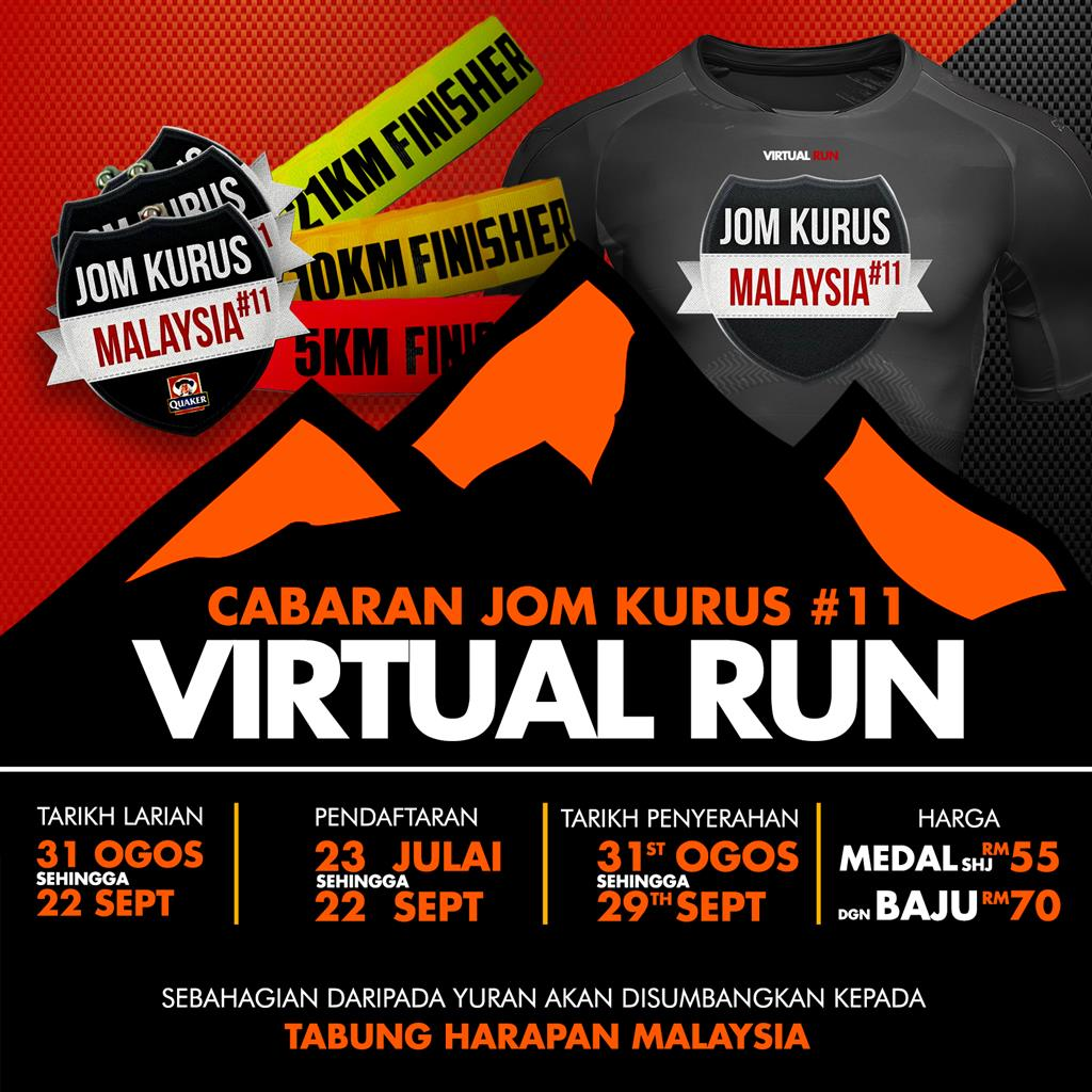 Logo of Cabaran Jom Kurus #11 Virtual Run 2018