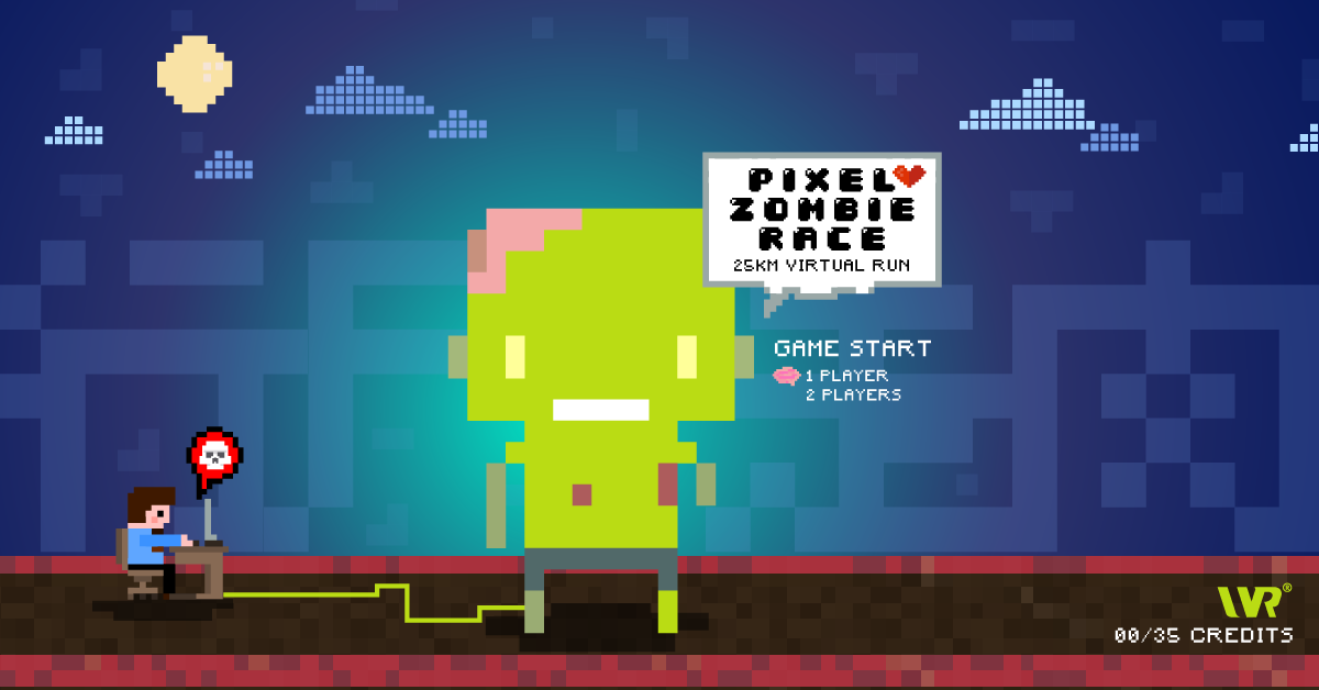 Logo of Pixel Zombie Race 2018