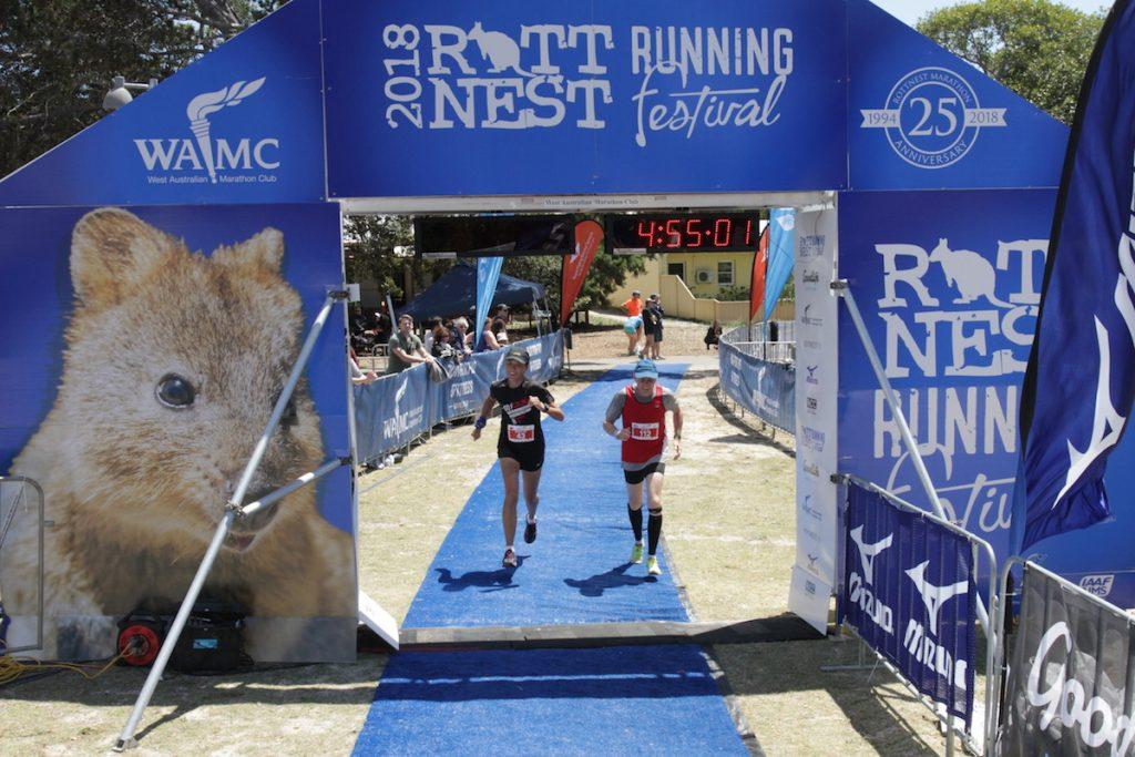 Rottnest Island Marathon Finish