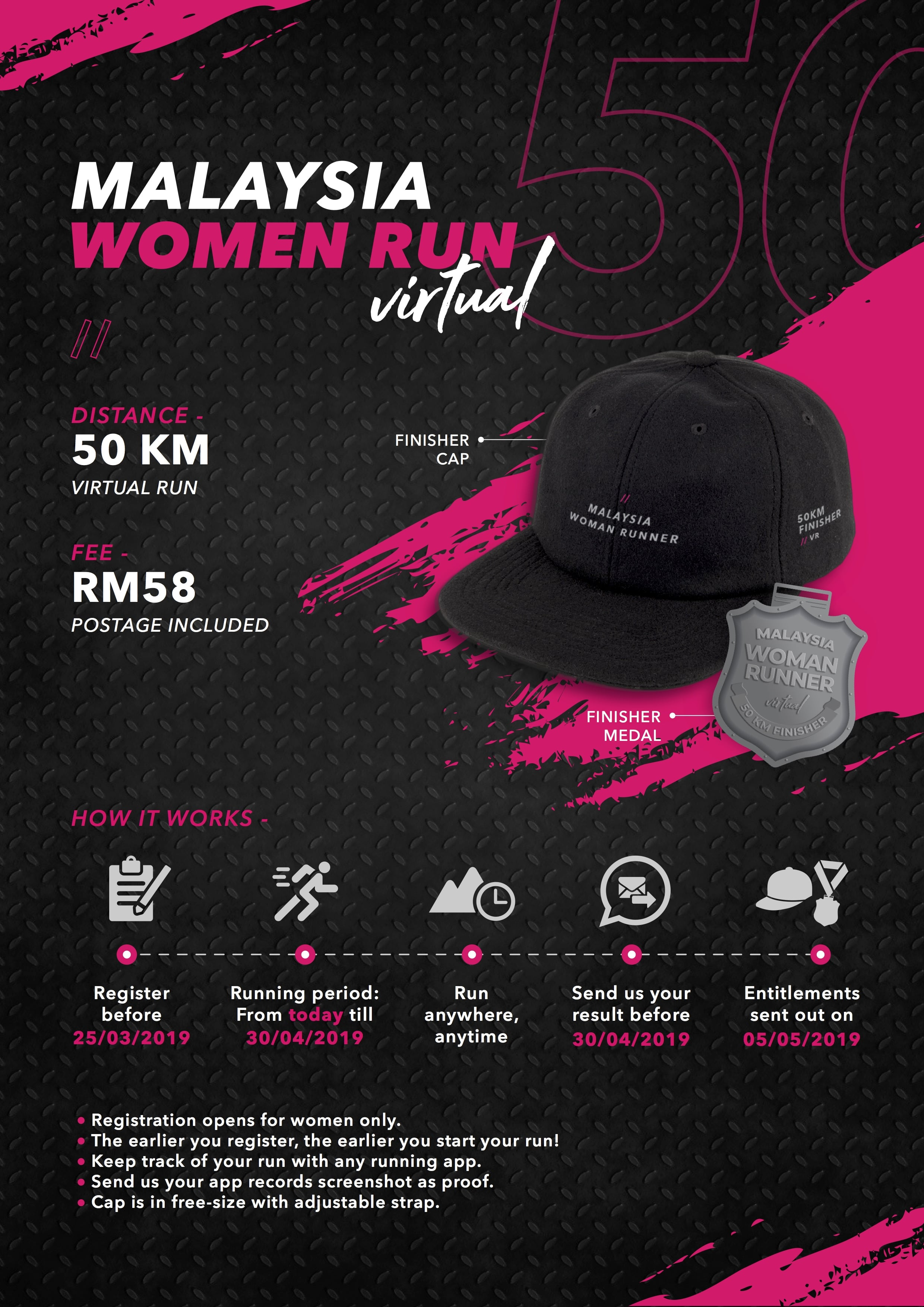 Logo of Malaysia Women Virtual Run 2019