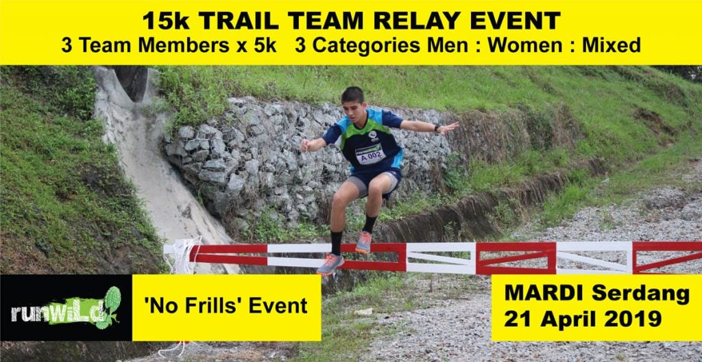 RunWild 15K Trail Team Relay Run 2019