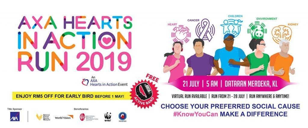 AXA Hearts In Action Run 2019
