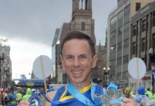 Boston marathon medal and Six Star Medal