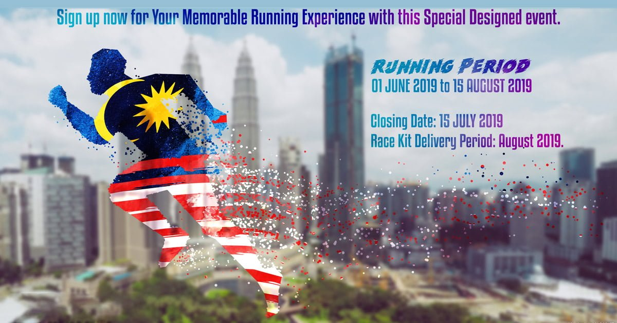 Logo of Hello Malaysia 62nd Merdeka Virtual Run 2019