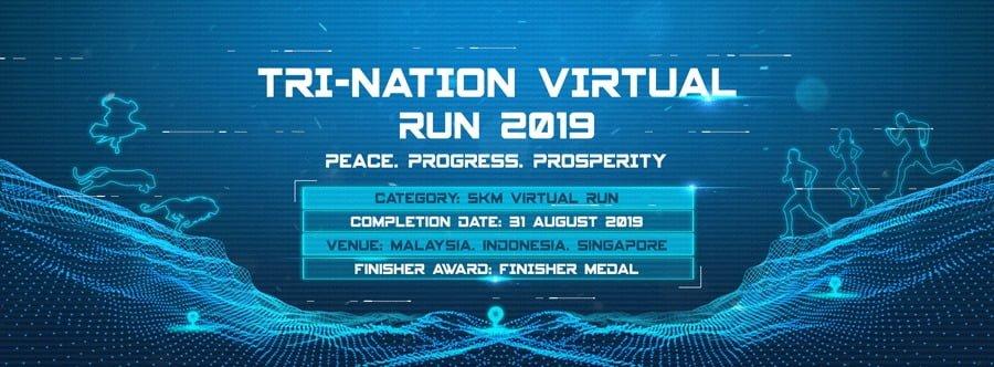 Logo of Tri-Nation Virtual Run 2019 – Malaysia – Indonesia – Singapore Challenge