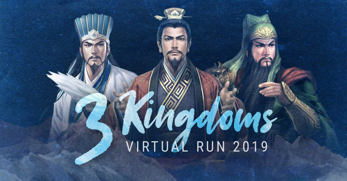 Logo of 3 Kingdoms Virtual Run 2019