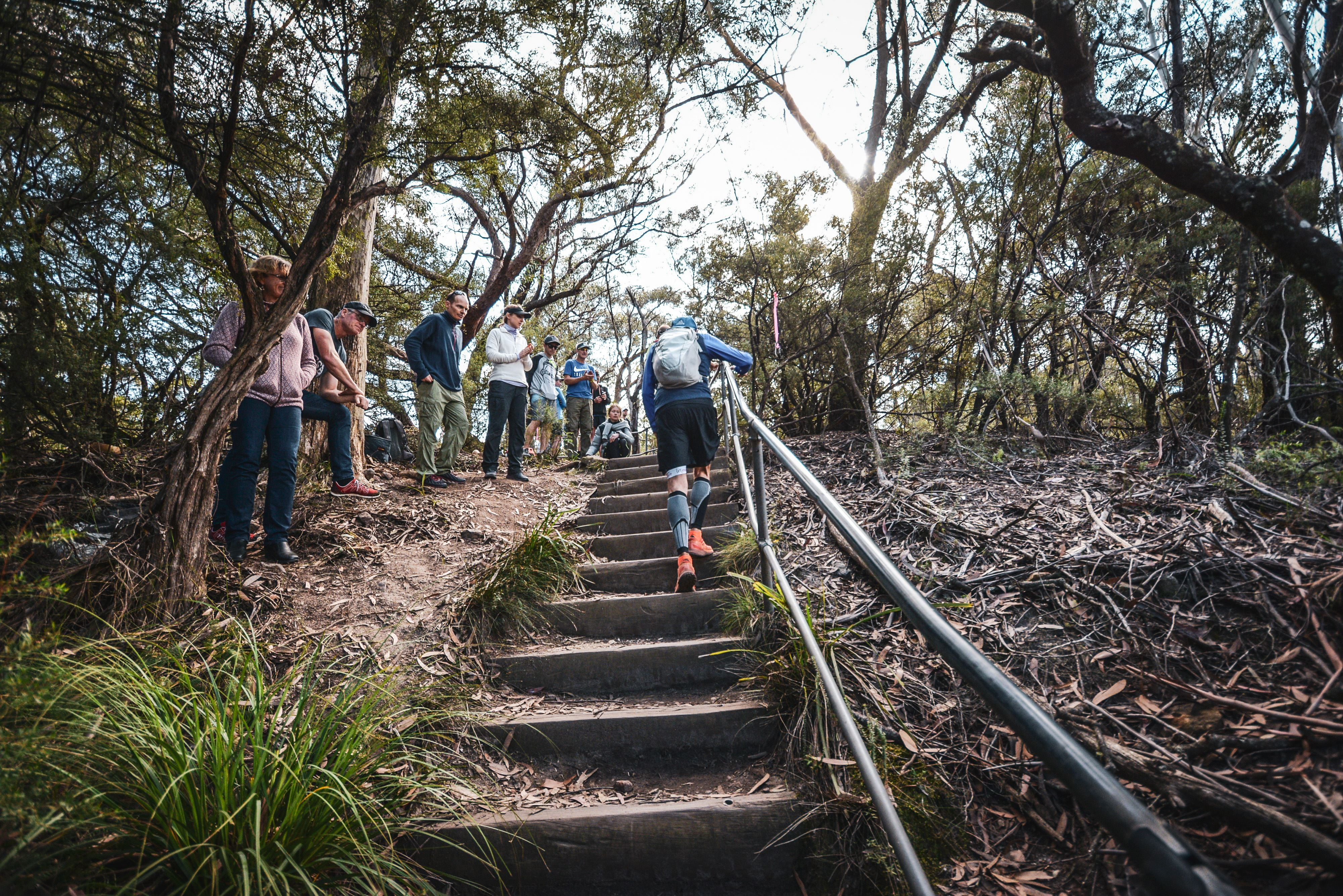Steps climbing at Ultra-Trail Australia 2019. Image: Sportograft.