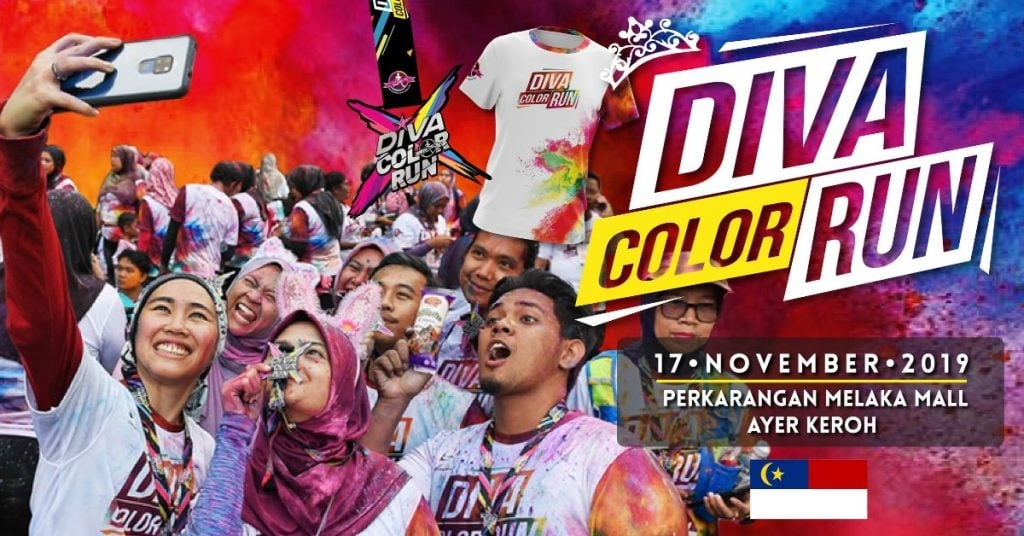 The Running Diva Malaysia Color Run (Ayer Keroh) 2019