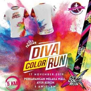 The Running Diva Malaysia Color Run (Ayer Keroh) 2019