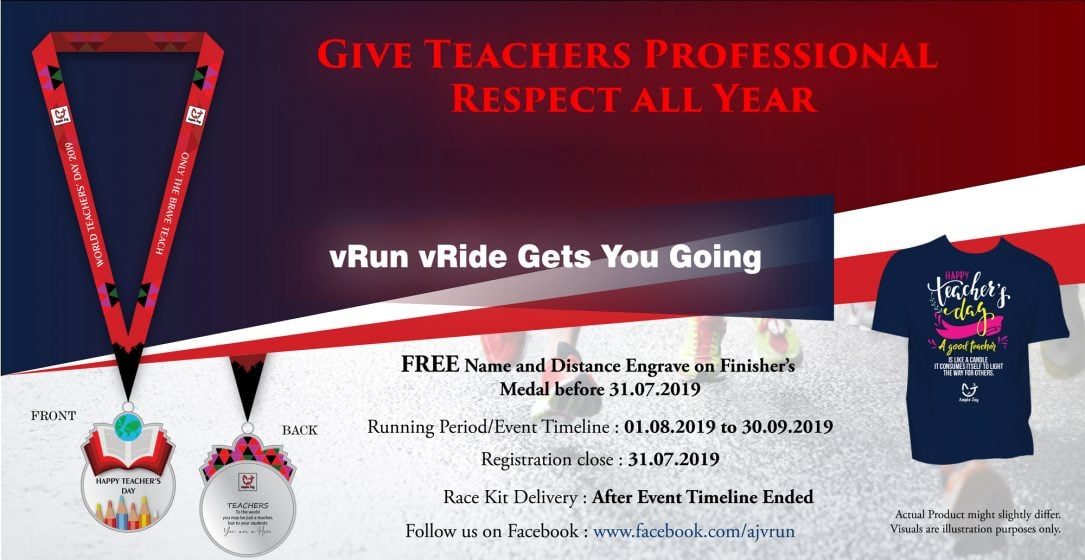 Logo of World Teachers' Day 2019 Virtual Run