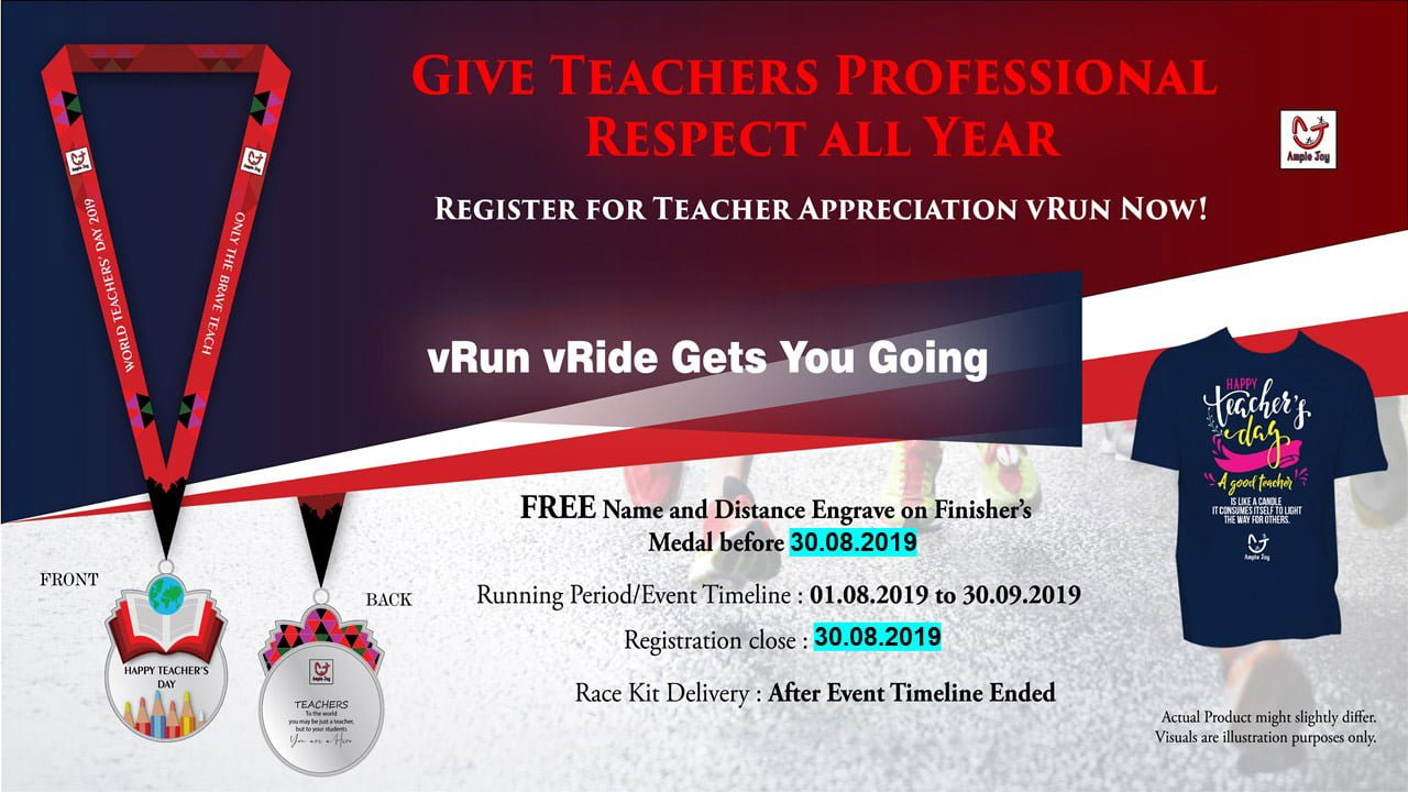 Logo of World Teachers' Day 2019 Virtual Run