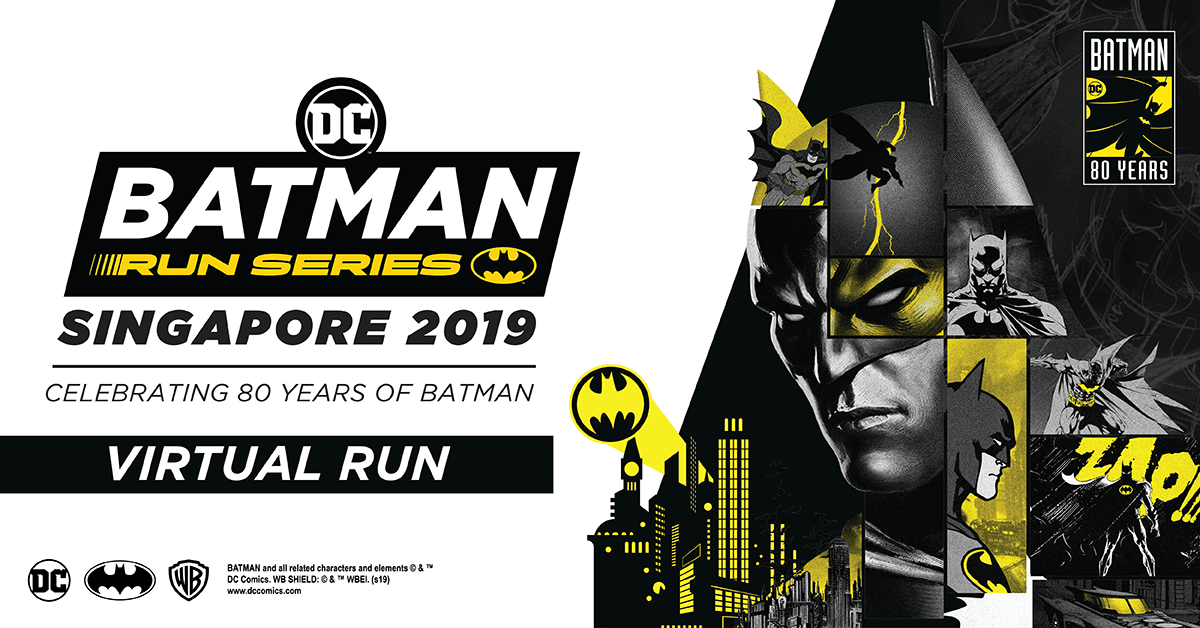 Logo of Batman Virtual Run Singapore 2019