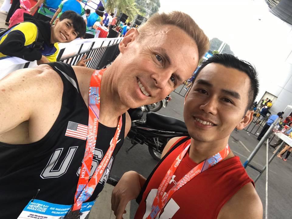 Marathoners at the Finish Line