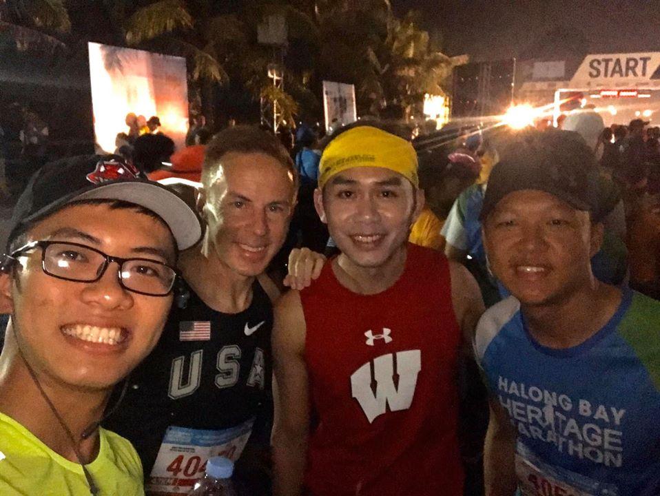 Runners before the start