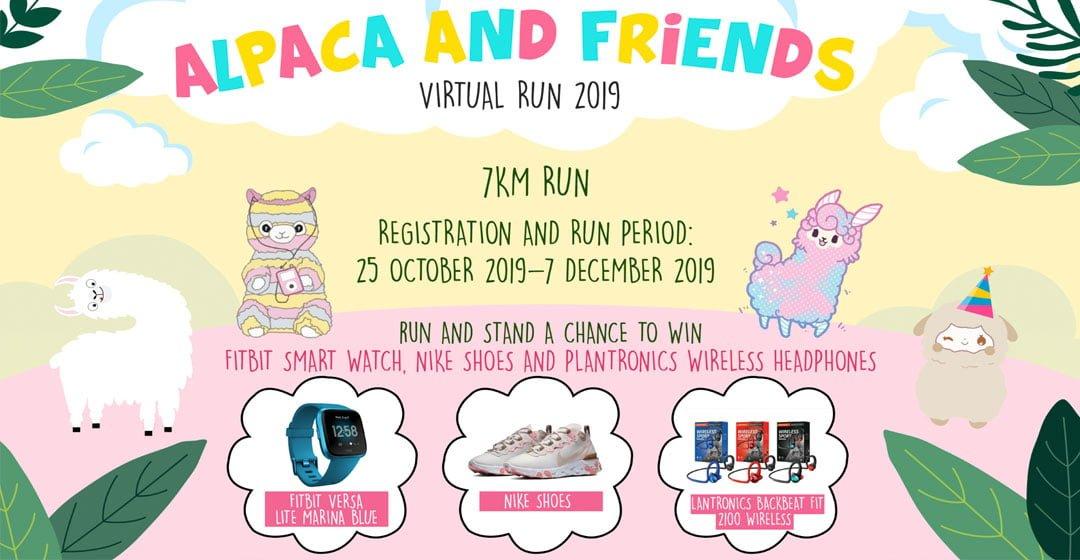 Logo of Alpaca and Friends Virtual Run 2019
