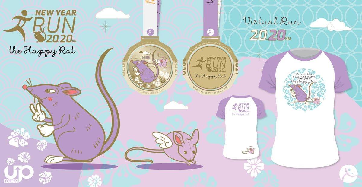 Logo of New Year Virtual Run 2020 – Happy Rat