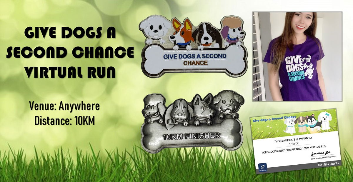 Logo of Give the Dogs a Second Chance Virtual Run 2020