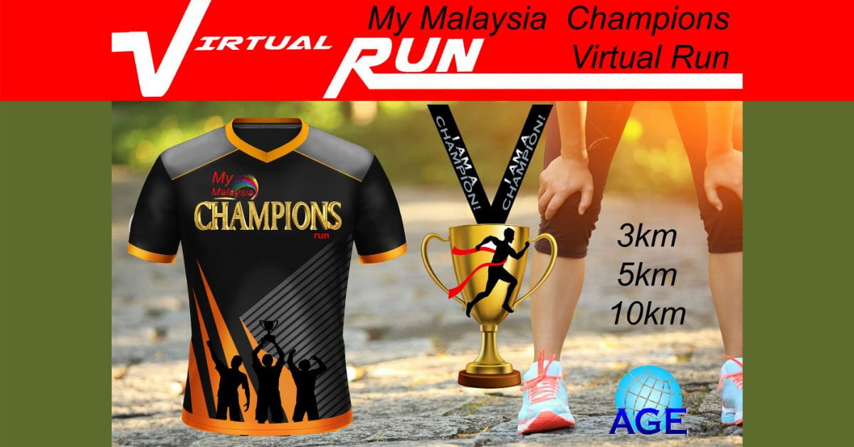 Logo of My Malaysia Champions Virtual Run 2020