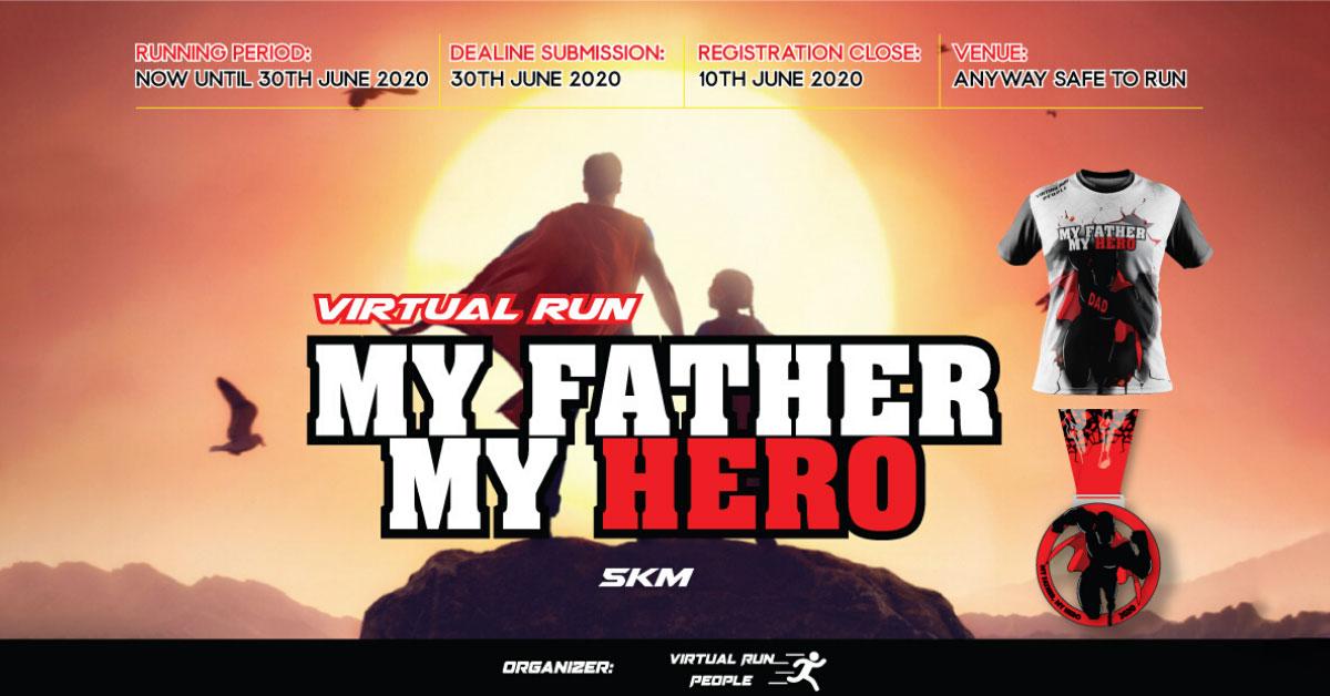 Logo of My Father My Hero Virtual Run 2020