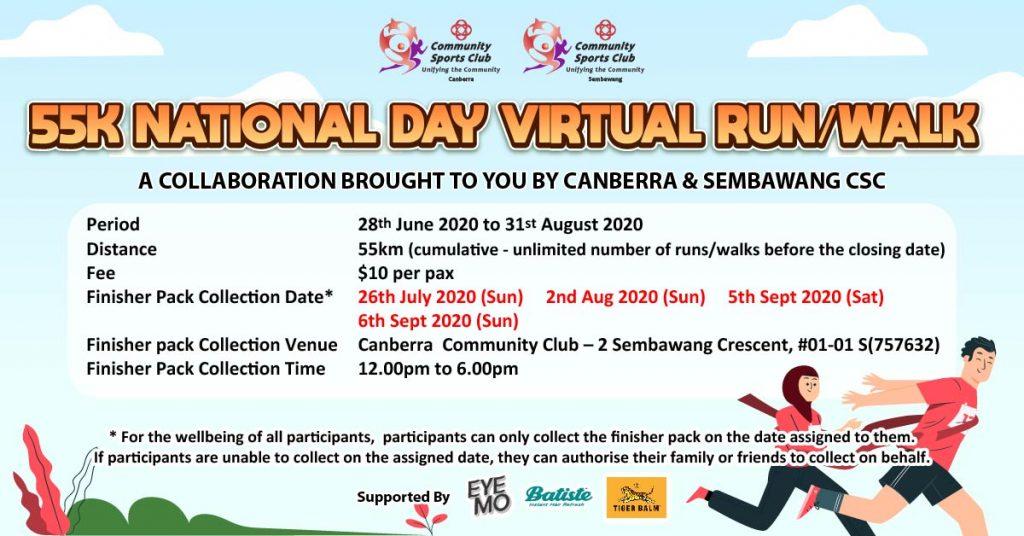 [Virtual] – 55K National Day Virtual Run
