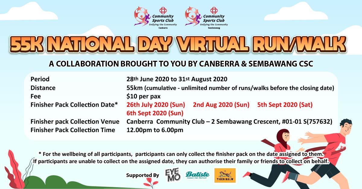 Logo of 55K National Day Virtual Run 2020