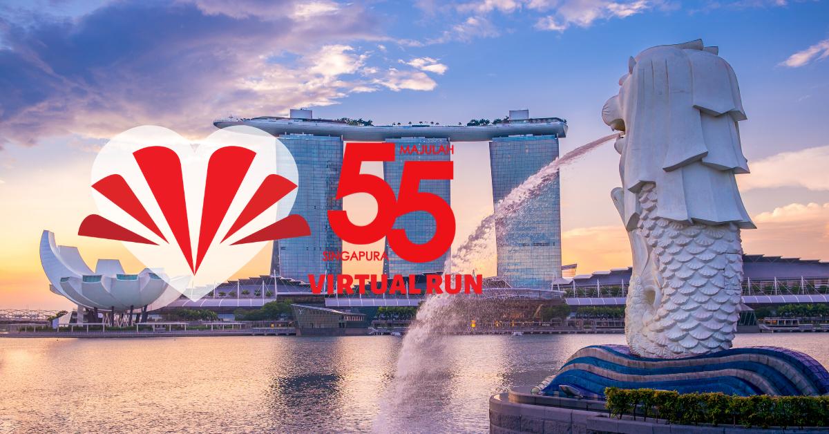 Logo of Majulah SG55 Virtual Run 2020