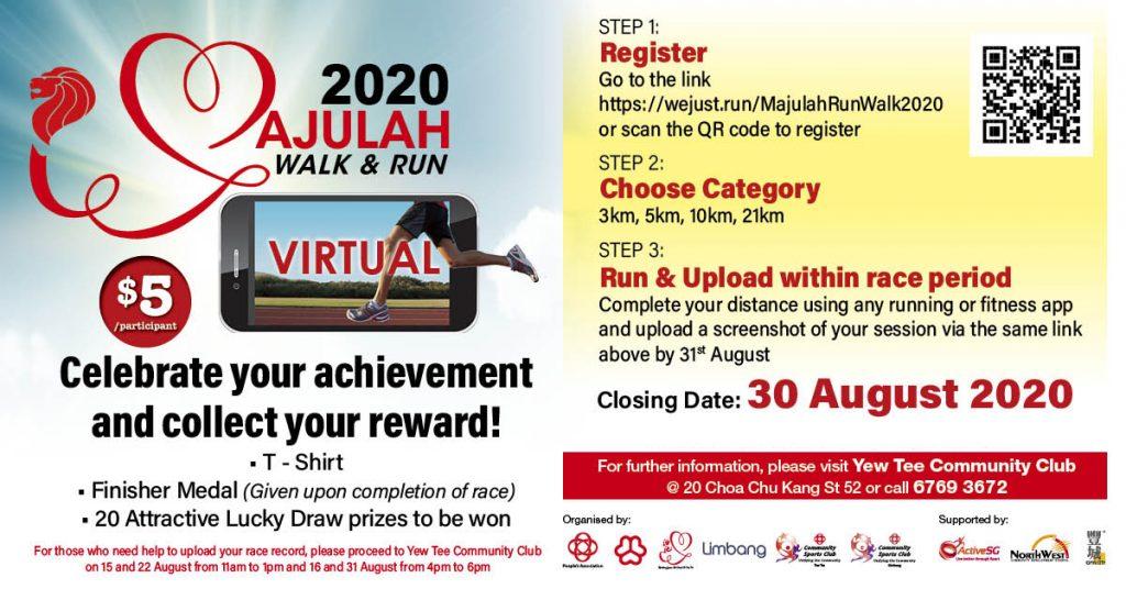 [Virtual] – Majulah Walk & Run 2020