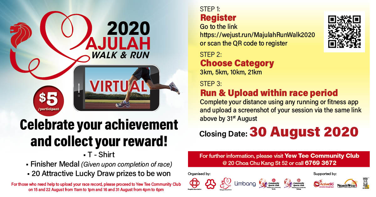 Logo of Majulah Walk & Run 2020 (Virtual)