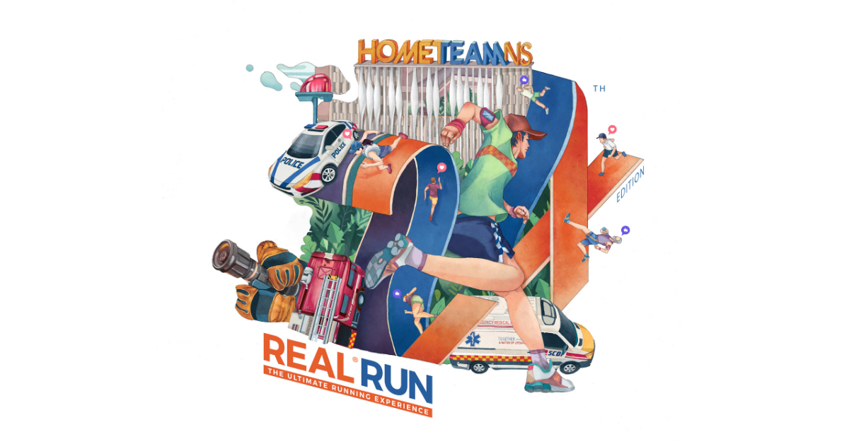 Logo of HomeTeamNS REAL® Run SOLO (Virtual Run) 2020