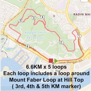 [Virtual] – Mount Faber Route 33KM 2020