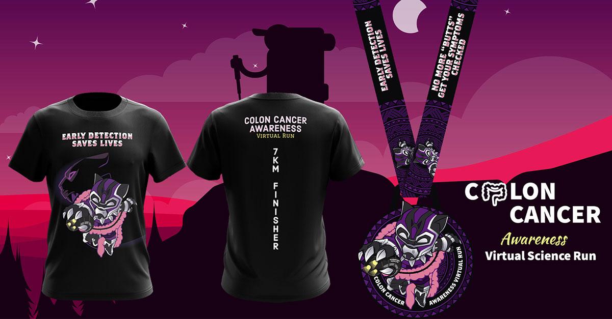 Logo of Colon Cancer Awareness Virtual Run 2021