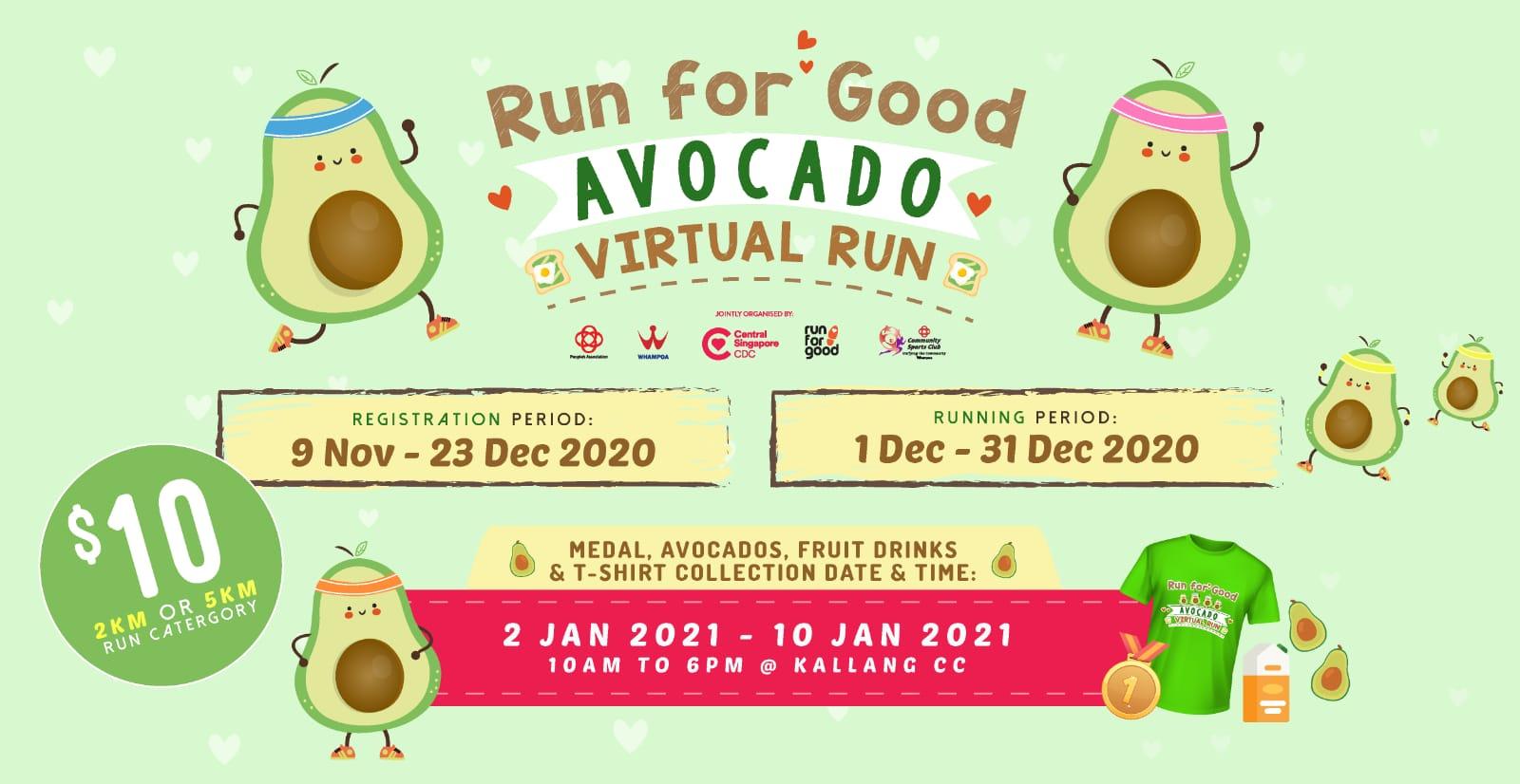 Logo of Run For Good Avocado Virtual Run 2020