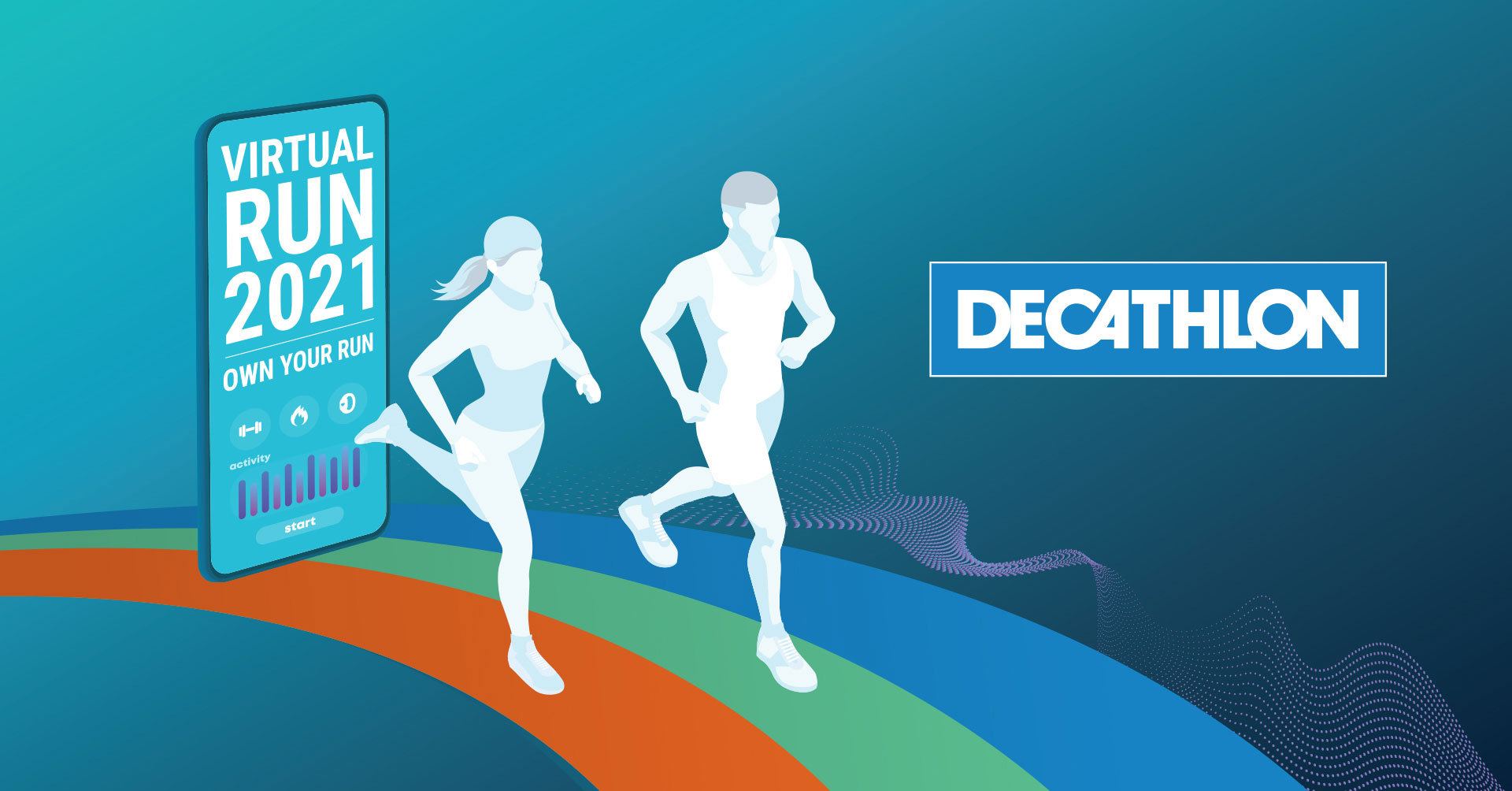 Logo of Decathlon Virtual Run 2021