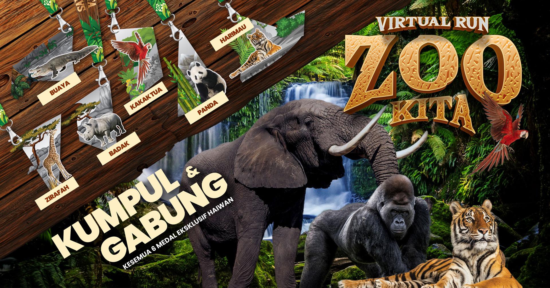 Logo of TRD Zoo Kita Virtual Run 2021