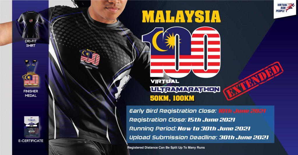 [Virtual] – Malaysia 100 Virtual UltraMarathon 2021