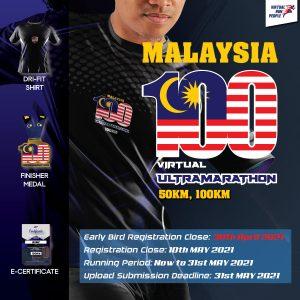 Malaysia 100 Virtual UltraMarathon 2021