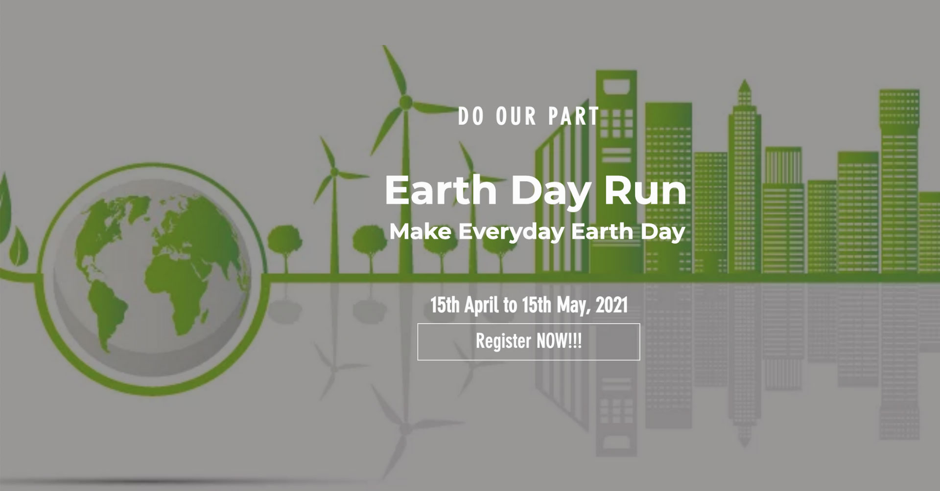Logo of Earth Day Real Time Run 2021