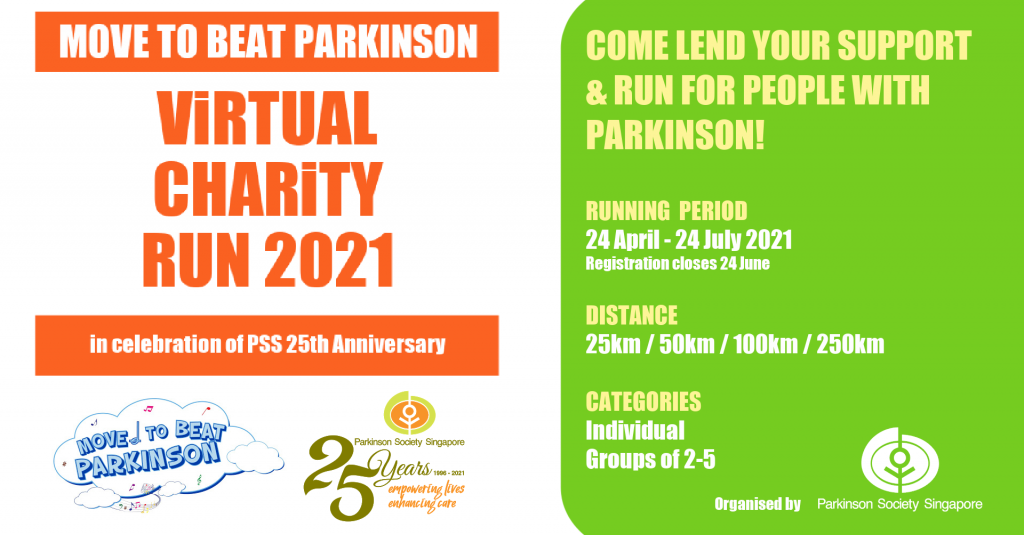 [Virtual] – Move to Beat Parkinson Virtual Charity Run 2021