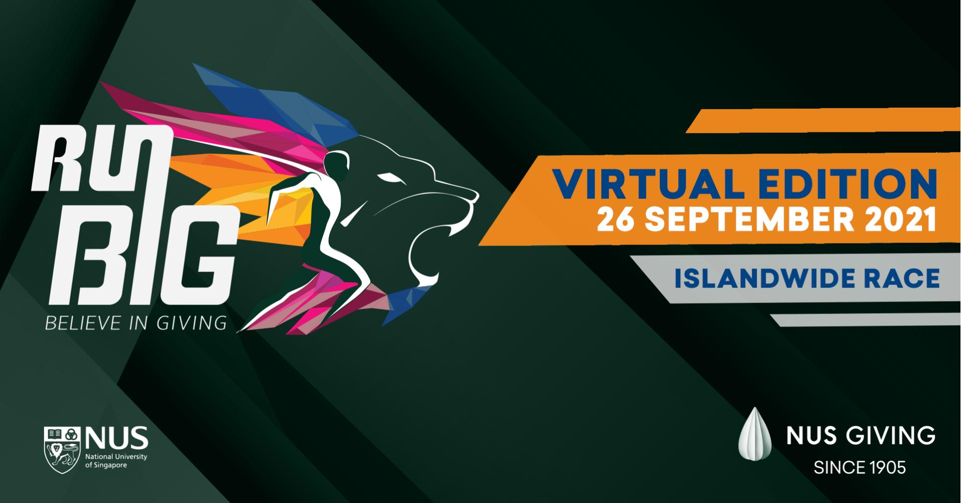Logo of NUS Giving Run Big 2021 – Virtual Edition