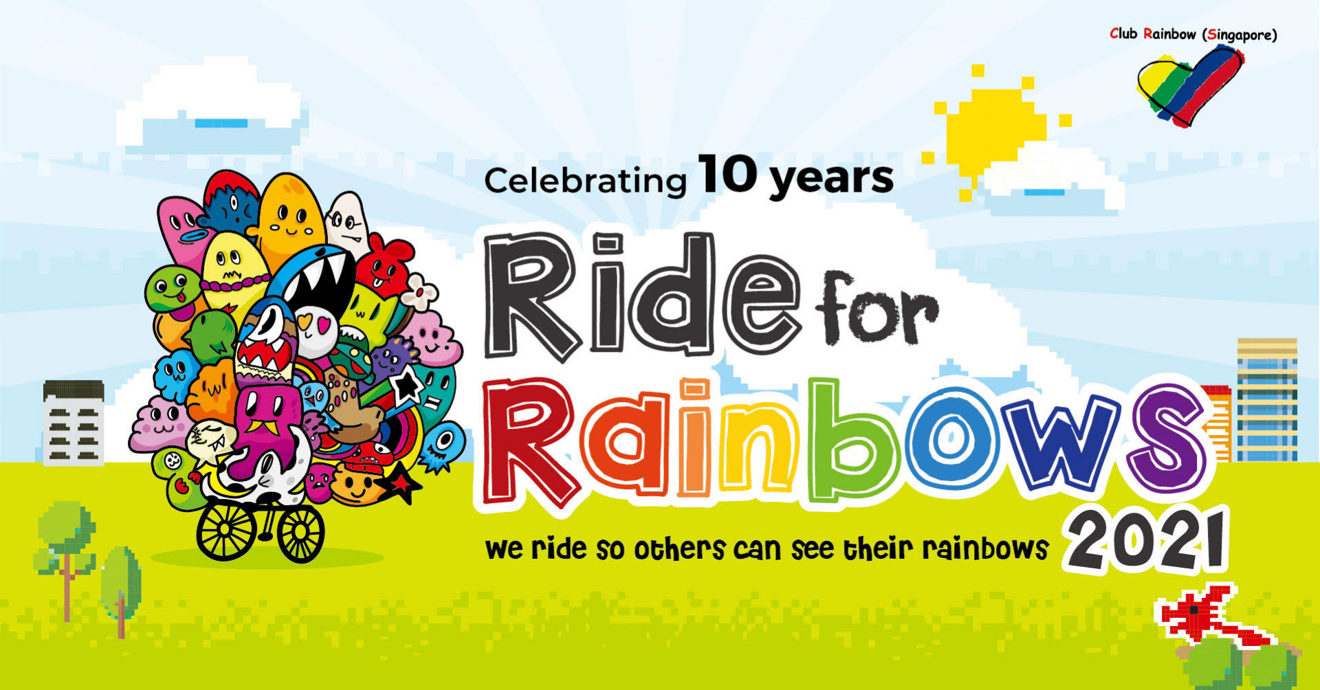 Logo of Ride for Rainbows 2021