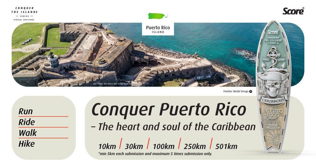 [Virtual] – Conquer Puerto Rico Virtual Challenge – Run / Ride / Walk / Hike