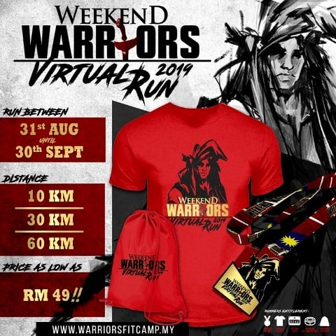 Logo of Weekend Warriors Virtual Run 2019