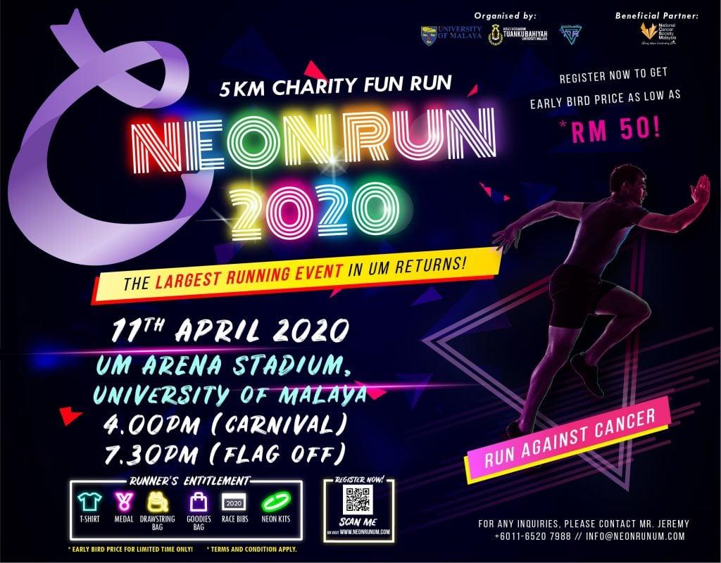 Neon Run 2020 : Run Against Cancer
