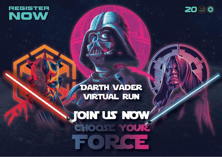 Logo of Darth Vader Virtual Run 2020